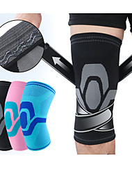 cheap -Knee Brace Knee Sleeve Sporty for Joint Pain and Arthretith Marathon Running Adjustable Anti-slip Strap Joint support Men's Women's Silicon Nylon Spandex Fabric 1 Piece Sports Black Blue Pink