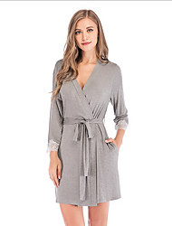 cheap -Women's Chemises & Gowns Nightwear Black Wine Gray S M L