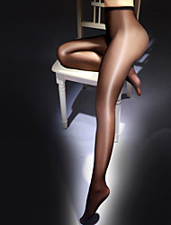 cheap -Women's Thin Super Sexy Pantyhose - Solid Colored 10D Black White Beige One-Size