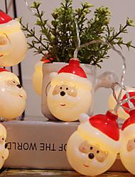 Недорогие -светодиодные рождественские свет шнура санта снеговик свет шнура аккумулятор коробка свет украшения комнаты свет открытый рождественский фонарь