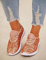 cheap -Women's Flats Flat Heel Round Toe Microfiber Casual Spring & Summer Pink / Gold / White