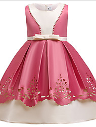 cheap -Ball Gown Ankle Length Pageant Flower Girl Dresses - Polyester Sleeveless Jewel Neck with Beading