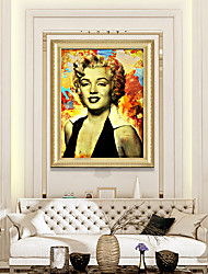 cheap -Framed Art Print Ready To Hang Marilyn Monroe Color Poster PS Oil Painting Wall Bedroom Bedside People Art Hotel Hanging Pictures