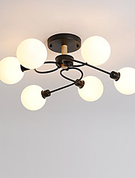 cheap -JSGYlights 6-Light 65 cm Geometric Shapes Semi-Flushmount Lights Metal Glass Painted Finishes Modern / Nordic Style 110-120V / 220-240V