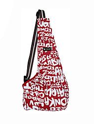 cheap -Cat Dog Carrier Bag & Travel Backpack Front Backpack Shoulder Messenger Bag Sling Shoulder Bag Portable Pet Small Dog Baskets Oxford Fabric Black Stripe Red / White
