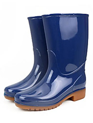 cheap -Unisex PVC Spring & Summer Boots Waterproof Knee High Boots Royal Blue