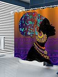Недорогие -занавески для душа new designafrican girl цифровая печать занавески для душа