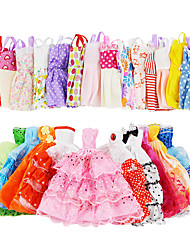 cheap -Doll accessories Doll Clothes Doll Dress Clothing Tulle Lace Fabrics Simple Creative Kawaii For 11.5 Inch Doll Handmade Toy for Girl's Birthday Gifts  Random Color Doll Not Included