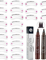 cheap -Eyebrow Stencil  4-Tip Liquid Eyebrow Pencil Set 24Pcs Eye Brow DIY Drawing Guide  1Pc Fork Tip Eyebrow Tattoo Pencil