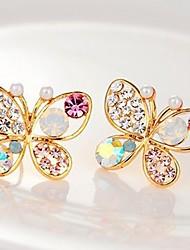 cheap -Women's Stud Earrings Sweet Imitation Diamond Earrings Jewelry Gold For