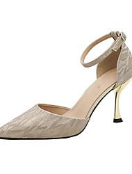 Недорогие -Жен. Обувь на каблуках На шпильке Заостренный носок Замша Весна лето Золотой / Серебряный
