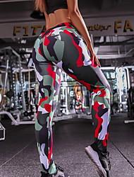 cheap -Women's Sporty Slim Sweatpants Pants - Camouflage Purple Red Gray S / M / L