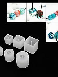Недорогие -6 шт. Круглый квадратный бисер ручной ювелирные изделия diy силикон с отверстием формы