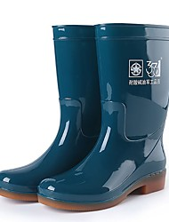 cheap -Men's PU Winter Boots Mid-Calf Boots Green / Blue