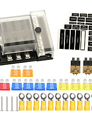 cheap -New 6-way Safety DC 32V Max Car Automatic circuit breakers Car fuse box with detachable Bussbar (rotatable top cover)  with fuse set