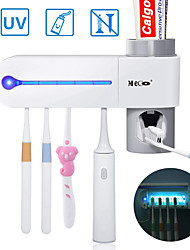 cheap -ZDM 1 Set Violet Light Color Toothbrush Holder Toothpaste Dispenser  5 Toothbrush Sterilizer Holder Wall Mounted with Sticker AC100-220V