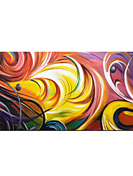cheap -Pure Hand Painted Abstract Colorful Oil Paintings on Canvas Fantasy Modern Artwork with Wood Inside Framed Ready to Hang for Home Decor With Stretched Frame
