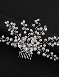 cheap -Simple Style Imitation Pearl / Alloy Hair Combs with Crystal / Sparkling Glitter / Glitter 1 pc Wedding / Birthday Headpiece