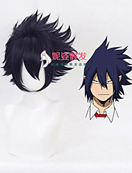 cheap -Synthetic Wig Cosplay My Hero Academy Battle For All / Boku no Hero Academia Curly Halloween Asymmetrical Wig Short Dark Purple Synthetic Hair 8 inch Men's Best Quality Purple