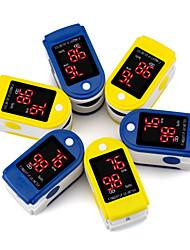 cheap -Portable Fingertip Oximeter Monitor Blood Oxygen Saturation Pulsoximeter Heart Rate Spo2 Pulse Oximeter without Batteries Color Sent Randomly 1PCS/LOT