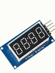 Недорогие -4 бита tm1637 цифровой трубки светодиодный дисплей модуль ж / часы для Arduino Raspberry Pi