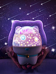 cheap -Irregular 3D Nightlight LED Night Light Rechargeable Creative with USB Port Remote Control USB 1pc