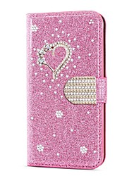cheap -Case For Samsung Galaxy A51 M40S  A71 Wallet  Shockproof Heart Diamond Glitter PU Leather Case For Samsung S20 Plus S20 Ultra A20e A50s A30s A10 A60  A70 A80 S10E S10 5G  S10 Plus  Note 10 Plus Note 2