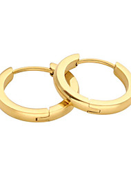 cheap -Hoop Earrings Classic Petal Stylish Gold Plated Earrings Jewelry Black / Gold / Silver For Date Festival 1 Pair