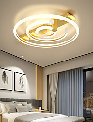 cheap -3-Light 45 cm Line Design Flush Mount Lights Metal Painted Finishes LED Modern 110-120V 220-240V