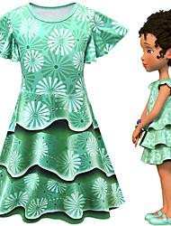 cheap -Fancy Nancy Dress Cosplay Costume Girls' Movie Cosplay Cosplay Costume Party Green Dress Polyster