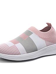 cheap -Women's Loafers & Slip-Ons Flat Heel Round Toe Mesh Sweet / Minimalism Running Shoes / Walking Shoes Spring & Summer / Fall & Winter Black / Red / Light Blue