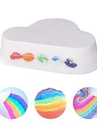 Недорогие -натуральный уход за кожей форма облаков радужная ванна пузырь отшелушивающий увлажняющий шарик для ванны бомбы уход за кожей романтическая соль для ванны