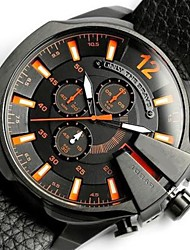 cheap -Men's Dress Watch Quartz Titanium Alloy Black Water Resistant / Waterproof Day Date Analog Outdoor Cool - Red+Blue Orange One Year Battery Life