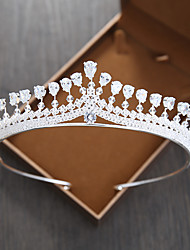 cheap -Women's Tiaras For Wedding Party Evening Prom Festival Pave Alloy White 1pc