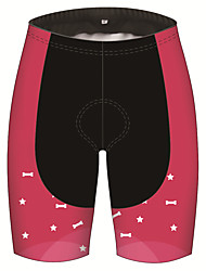 cheap -21Grams Women's Cycling Shorts Spandex Polyester Bike Shorts Padded Shorts / Chamois Pants Breathable 3D Pad Quick Dry Sports Patchwork Bone Stars Black / Pink Mountain Bike MTB Road Bike Cycling