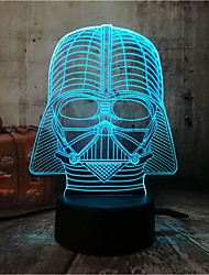 cheap -New Star Wars 3D Black Gentleman Night Light Portable Flashlight With Amazing 7-Color Variation Sleeping Table Lamp With Remote Control Children'S Gift