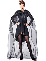 cheap -Witch Outfits Party Costume Adults' Women's Halloween Halloween Festival / Holiday Polyster Black Women's Carnival Costumes / Dress / Cloak