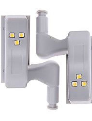 cheap -ZDM 2 Pieces Mechanical Induction LED Hinge Light 0.25W Kitchen Furniture Bedroom Closet Door Application LED Hinge Light
