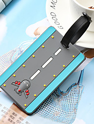 cheap -Airplane Mr and Mrs Luggage Tag Personalized Custom Made Unique Luggage Accessory Durable Convenient Leather Silica Gel 2pcs Purple Blue Pink Monogram Travel Accessory