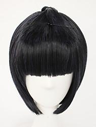 cheap -Demon Slayer: Kimetsu no Yaiba Bruno Bucciarati Cosplay Wigs Women's Bob Straight bangs 11 inch Heat Resistant Fiber kinky Straight Black Black Anime