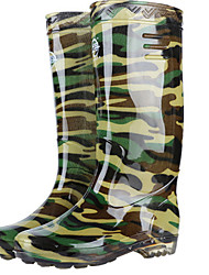cheap -Men's PVC Spring & Summer Boots Waterproof Booties / Ankle Boots Green