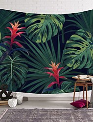 cheap -5 sizes   ilected Tropical Plant Tapestry Wall Hanging Polyester Thin Bohemia Cactus Banana Leaf Print Tapestry Beach Towel Cushion
