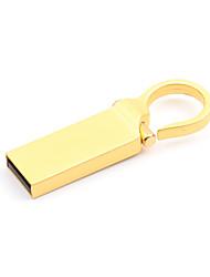 Недорогие -Litbest круглая кнопка золотой металлический брелок 32 ГБ флэш-накопители USB 2.0 Creative для автомобиля