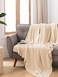cheap -Bed Blankets, Simple Acrylic Fibers Comfy Blankets