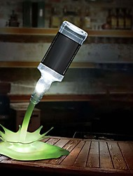 cheap -3D Bottle Pouring Wine-shaped LED Night Light USB Touch Control Bedside Lamp Novelty Bar Wedding Party Home Christmas Decoration Staycation