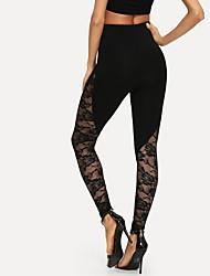 cheap -Women's Sporty Sweatpants Pants - Solid Colored Black S M L