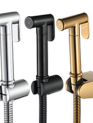 cheap -Bidet Faucet ChromeToilet Handheld bidet Sprayer Self-Cleaning Contemporary / Single Handle One Hole
