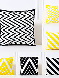 cheap -Set of 6 Polyester Pillow Cover, Art Deco Geometric Pattern Simple Classic Square Traditional Classic Throw Pillow