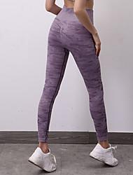 cheap -Women's Sporty Basic Skinny Jogger Sweatpants Pants - Leopard Classic Sporty Purple Green Gray S / M / L