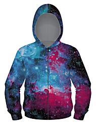 cheap -Kids Girls' Active Punk & Gothic Galaxy Color Block Plaid Regular Suit & Blazer Blue
